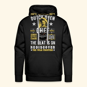 Dutch Oven Chef, Outlaw, distressed - Männer Premium Hoodie