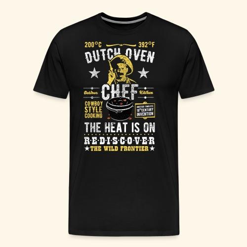 Dutch Oven Chef, Outlaw, distressed - Männer Premium T-Shirt
