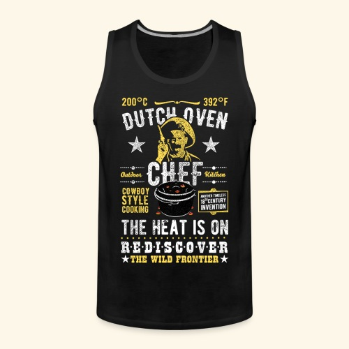 Dutch Oven Chef, Outlaw, distressed - Männer Premium Tank Top