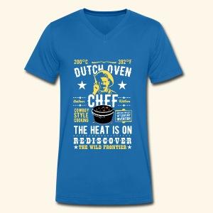 Dutch Oven Chef, Outlaw, clean - Männer Bio-T-Shirt mit V-Ausschnitt von Stanley & Stella