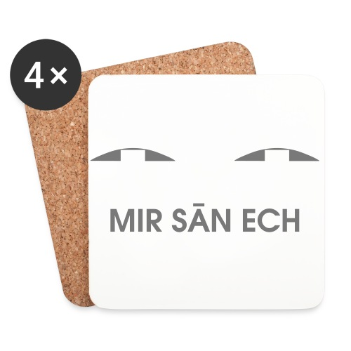 Me san ech - Untersetzer (4er-Set)