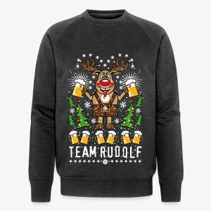 Team Rudolf Rentier Hirsch Rudolph Bier Beer T-Shirt 107 - Männer Bio-Sweatshirt von Stanley & Stella