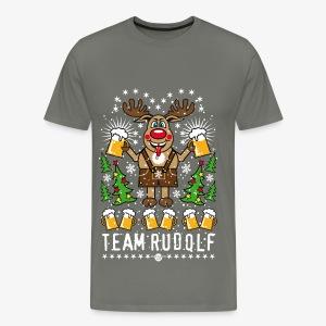Team Rudolf Rentier Hirsch Rudolph Bier Beer T-Shirt 107 - Männer Premium T-Shirt