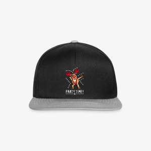 Hirsch Rentier Rudi Party Time Dabbing Rudolph 114 - Snapback Cap