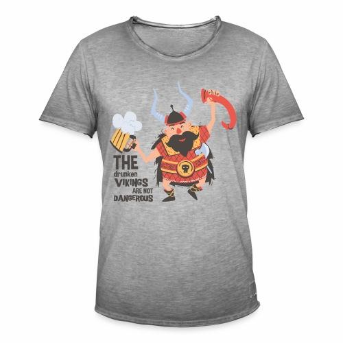Drunken Vikings - Männer Vintage T-Shirt