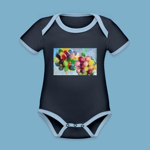 Ballon - Baby Bio-Kurzarm-Kontrastbody