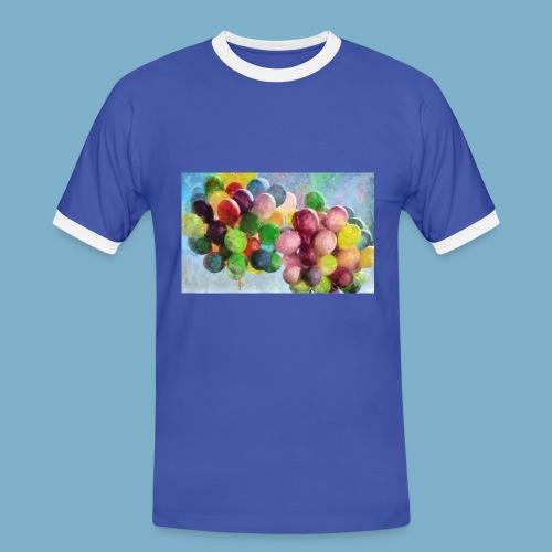 Ballon - Männer Kontrast-T-Shirt