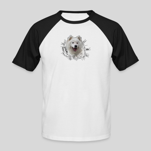 Samojede im Glasloch - Männer Baseball-T-Shirt