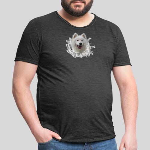 Samojede im Glasloch - Männer Vintage T-Shirt