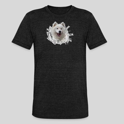 Samojede im Glasloch - Unisex Tri-Blend T-Shirt von Bella + Canvas