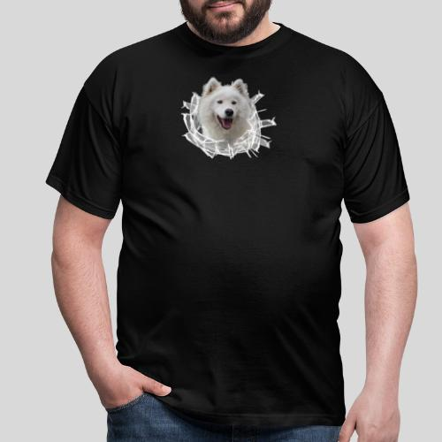 Samojede im Glasloch - Männer T-Shirt