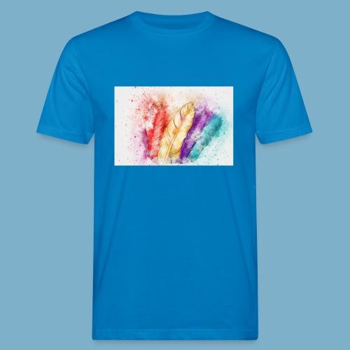 Feder Motiv - Männer Bio-T-Shirt