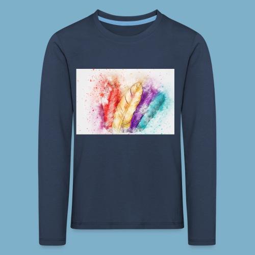 Feder Motiv - Kinder Premium Langarmshirt
