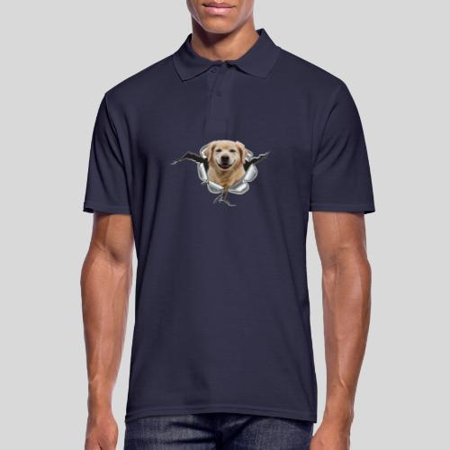 Golden im Metall-Loch - Männer Poloshirt