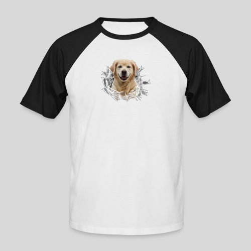 Golden im Glasloch - Männer Baseball-T-Shirt