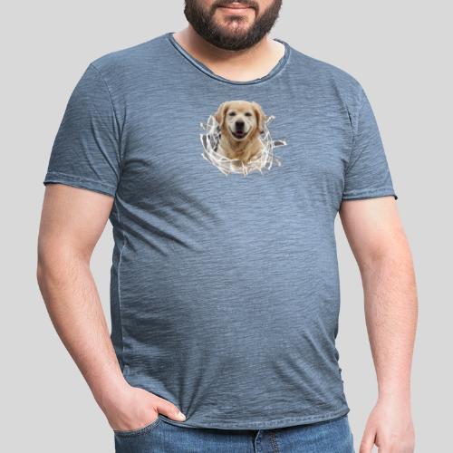 Golden im Glasloch - Männer Vintage T-Shirt