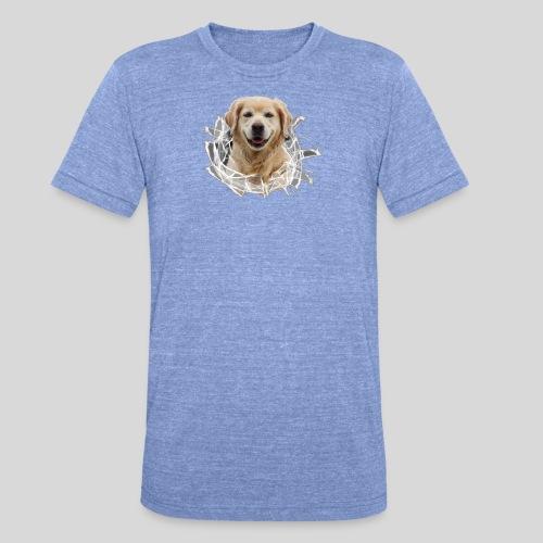 Golden im Glasloch - Unisex Tri-Blend T-Shirt von Bella + Canvas