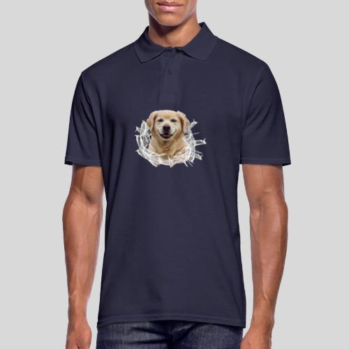 Golden im Glasloch - Männer Poloshirt