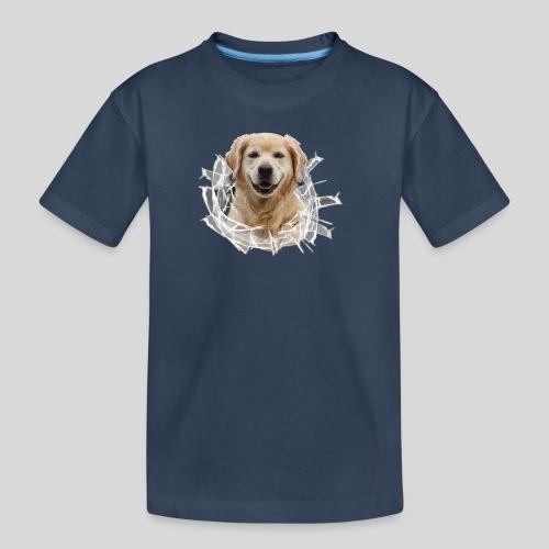 Golden im Glasloch - Teenager Premium Bio T-Shirt