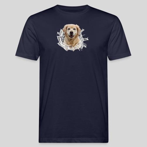 Golden im Glasloch - Männer Bio-T-Shirt