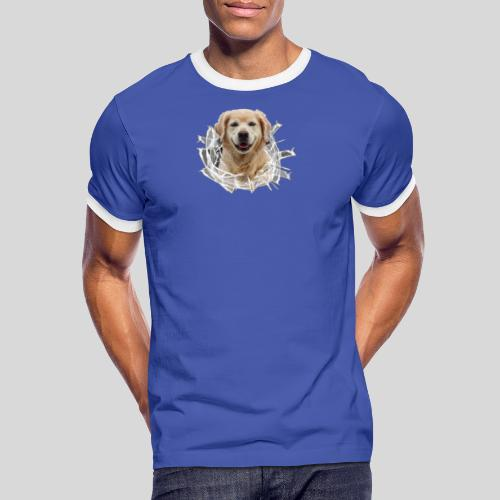 Golden im Glasloch - Männer Kontrast-T-Shirt