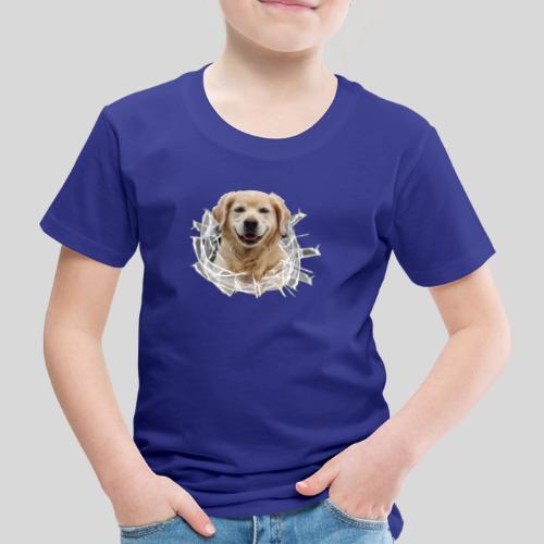 Golden im Glasloch - Kinder Premium T-Shirt