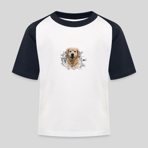 Golden im Glasloch - Kinder Baseball T-Shirt
