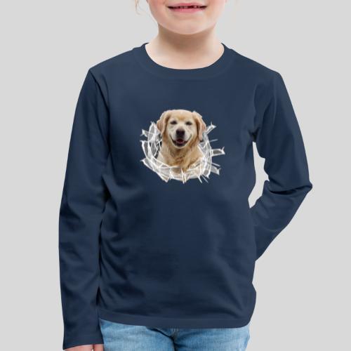 Golden im Glasloch - Kinder Premium Langarmshirt