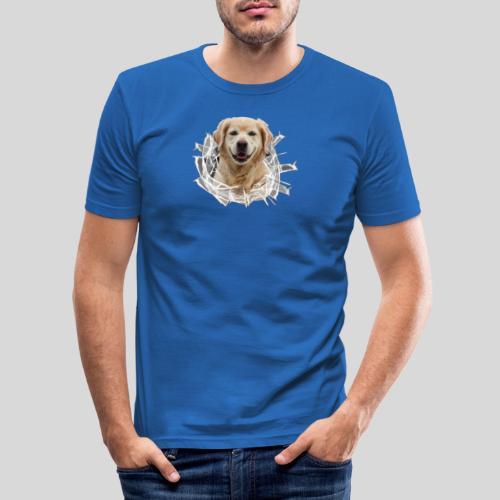 Golden im Glasloch - Männer Slim Fit T-Shirt