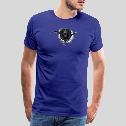 Flat im Metall-Loch - Männer Premium T-Shirt