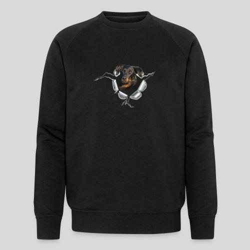 Beauceron im Metall-Loch - Männer Bio-Sweatshirt von Stanley & Stella