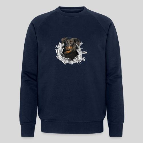 Beauceron im Glasloch - Männer Bio-Sweatshirt von Stanley & Stella