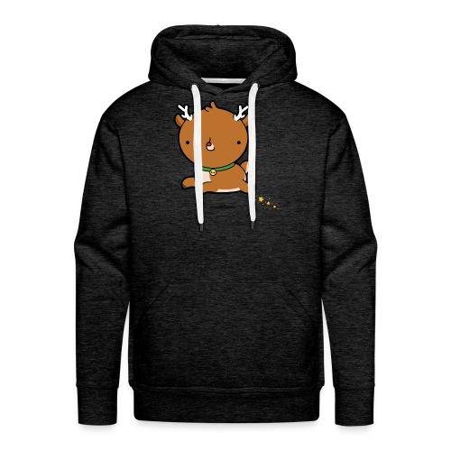 Rudolph! - Felpa con cappuccio premium da uomo