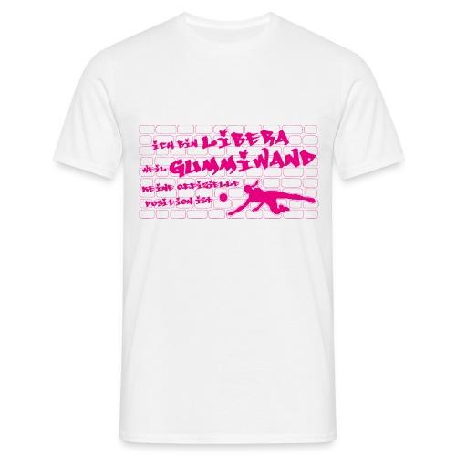 VolleyballFREAK Gummiwand Libera pink - Männer T-Shirt