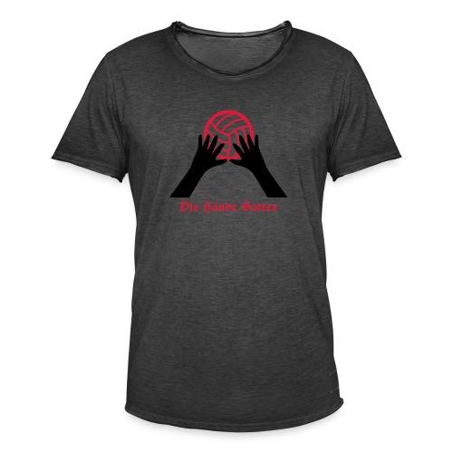 VolleyballFREAK Hände Gottes - Männer Vintage T-Shirt