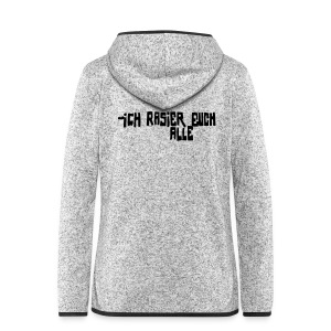Berlin Graffiti: iCH RASiER EUCH ALLE - Women's Hooded Fleece Jacket