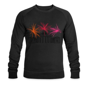 Berlin fireworks New Year's Eve at the Brandenburg Gate - Men's Organic Sweatshirt by Stanley & Stella