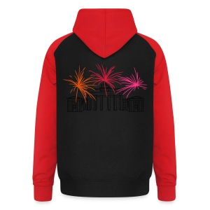 Berlin fireworks New Year's Eve at the Brandenburg Gate - Unisex Baseball Hoodie