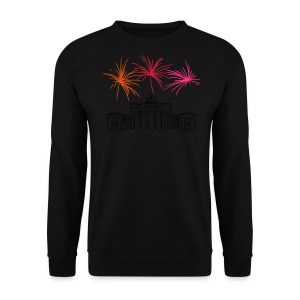 Berlin fireworks New Year's Eve at the Brandenburg Gate - Men's Sweatshirt