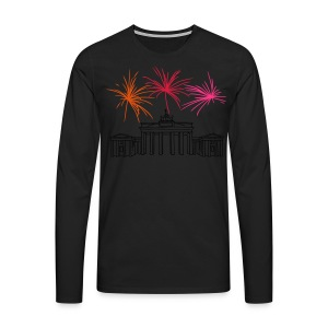Berlin fireworks New Year's Eve at the Brandenburg Gate - Men's Premium Longsleeve Shirt
