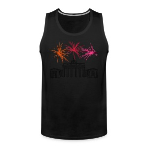 Berlin fireworks New Year's Eve at the Brandenburg Gate - Men's Premium Tank Top