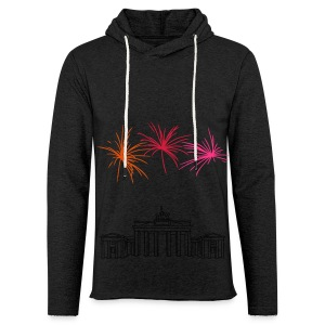 Berlin fireworks New Year's Eve at the Brandenburg Gate - Light Unisex Sweatshirt Hoodie