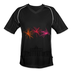 Berlin fireworks New Year's Eve at the Brandenburg Gate - Men's Football Jersey