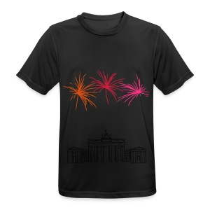 Berlin fireworks New Year's Eve at the Brandenburg Gate - Men's Breathable T-Shirt