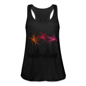 Fireworks New Year's Eve at Oberbaum Bridge in Berlin - Women's Tank Top by Bella