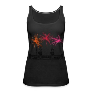 Fireworks New Year's Eve at Oberbaum Bridge in Berlin - Women's Premium Tank Top