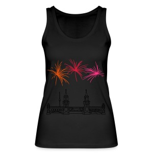 Fireworks New Year's Eve at Oberbaum Bridge in Berlin - Women's Organic Tank Top by Stanley & Stella
