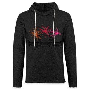 Fireworks New Year's Eve at Oberbaum Bridge in Berlin - Light Unisex Sweatshirt Hoodie