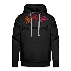 Fireworks New Year's Eve at Oberbaum Bridge in Berlin - Men's Premium Hoodie