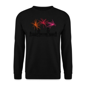 Fireworks New Year's Eve at Oberbaum Bridge in Berlin - Men's Sweatshirt